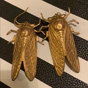 Metal Bug Earrings
